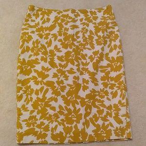 Floral pencil skirt loft brand